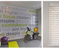 home gym blinds